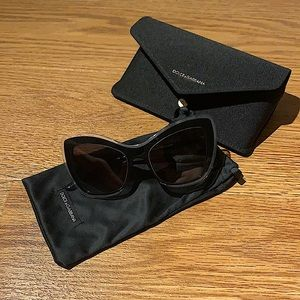 Dolce & Gabanna black and gold sunglasses